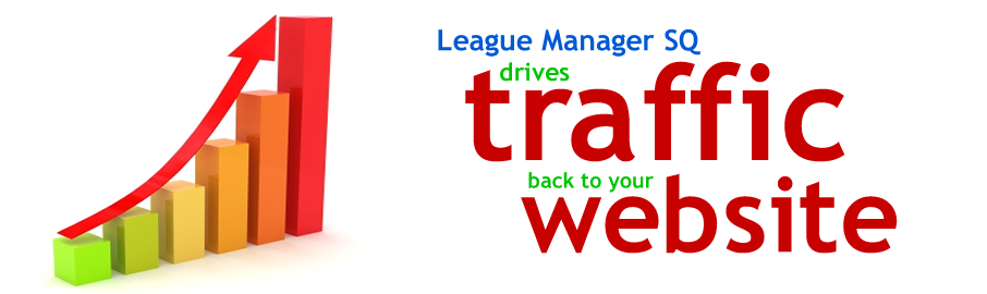 League Manager SQ drives traffic back to your website